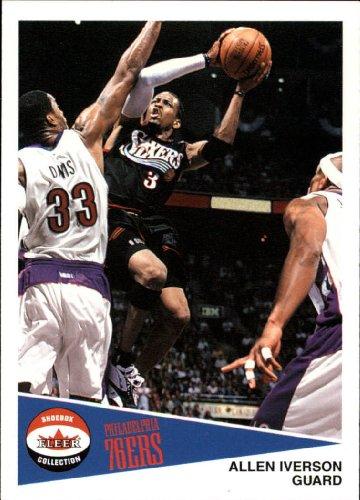 2001 Fleer Shoebox Basketball Card (2001-02) #28 Allen Iverson Near Mint/Mint