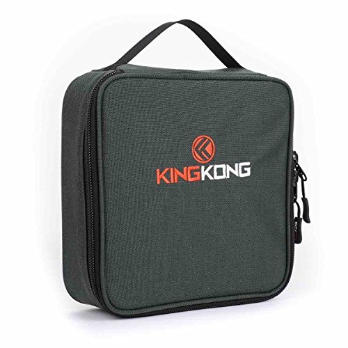 "King Kong Insulated Meal Bag 1000D Nylon Exterior - Insulated Thermal Polyester Lunch Bag, Military Spec Nylon Cooler Bag - 10"" x 10"" x 3"" - Charcoal"