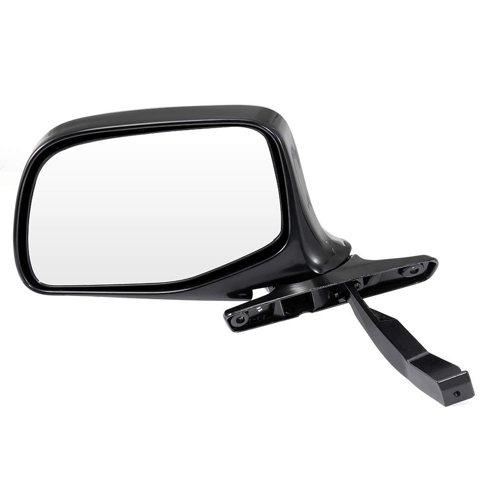 Left Side Rear View Mirrors Manual Folding Black Door Mirror Replacement fit for 1992 1993 1994 1995 1996 Ford F-350 F-250 F-150 Bronco F Super Duty ECCPP Driver Side Mirrors