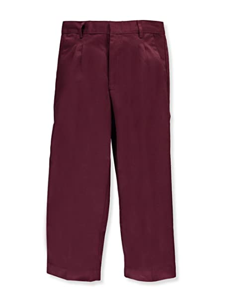 0e0152ff50705 Image Unavailable. Image not available for. Color  Universal School  Uniforms Boys Pleated Pant Burgundy Size 18 Husky