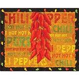 """12"""" x 15"""" Chili Peppers Design Cutting Board"""