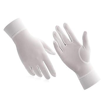 56506e2e2cb40a ALASKA BEAR Handschuhe aus Naturseide, Unisex, gebrochenes weiß,  Medium(Women's)