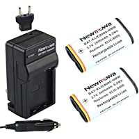Newmowa KLIC8000 Battery (2-Pack) and Charger kit for Kodak Z1012 IS, Z1015 IS, Z1085 IS Z1485 IS, Z612, Z712 IS, Z812 IS, Z8612 IS
