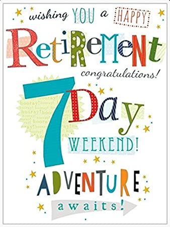 Extra large greetings card aba3138 retirement card seven day extra large greetings card aba3138 retirement card seven day weekend from m4hsunfo