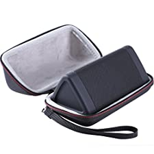 LTGEM Case for Cambridge SoundWorks OontZ Angle 3 Next Generation Ultra Portable Wireless Bluetooth Speaker with Mesh Pocket-Black