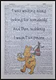 parksmoonprints Winnie the Pooh Zitat Vintage Wörterbuch Print Art Wand Bild Cute Friend Love