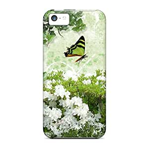 For Iphone 5c Tpu Phone Case Cover(flower Blessing)