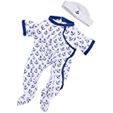 Manhattan Toy Baby Stella Anchors Away Baby Doll Outfit
