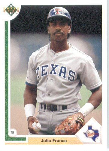 1991 Upper Deck # 227 Julio Franco Texas Rangers - MLB Baseball Trading ()