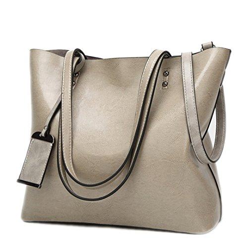 Sac en cuir sacs à main Designer Femmes Sacs à bandoulière grande capacité sac bandoulière Sacs à main Dame Bolsas Brown Gray