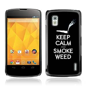 YOYOSHOP [Funny Keel Calm & Smoke Weed 420] LG Google Nexus 4 Case