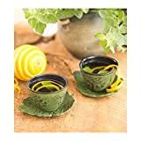 Bamboo Grove Cast Iron Set of Two Cups And Saucers