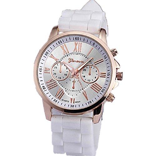 ZLOLIA Women Roman Numerals Silicone Jelly Gel Quartz Analog Wrist Watch (Numerals Women Watch)