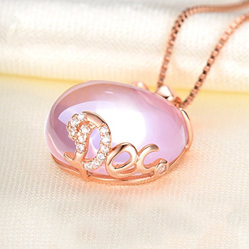 Oyfel Rose Gold Necklace Apple Pendant Jewellery for Women Girls Ladies Fashion Valentines Day Christmas Birthday Gift 40+5cm