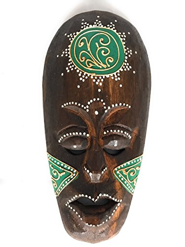Green Primitive Tiki Mask (Tribal Tiki Mask 8