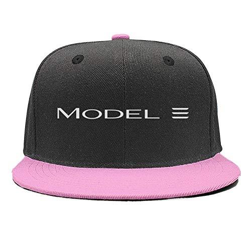 NIDHBD Printed Tesla-Model-3-white-logo-symbol-icon-emblem-pink Hip-hop Hats Womens - Pink Icon Hat