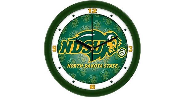 Dimension Wall Clock SunTime North Dakota State Bison