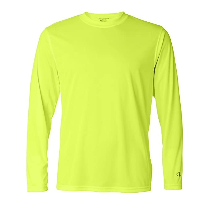 ce526640 Champion Men's Double Dry Performance Long Sleeve T-Shirt at Amazon Men's  Clothing store:
