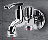 AWXJX Sink Taps Mop pool copper One into two washing machine Three links Double handle Double hole Single cold