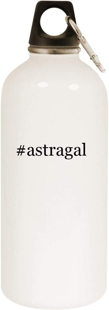#astragal - 20oz Hashtag Stainless Steel White Water Bottle with Carabiner, White