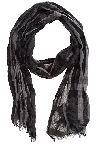 Burberry men's linen scarf black