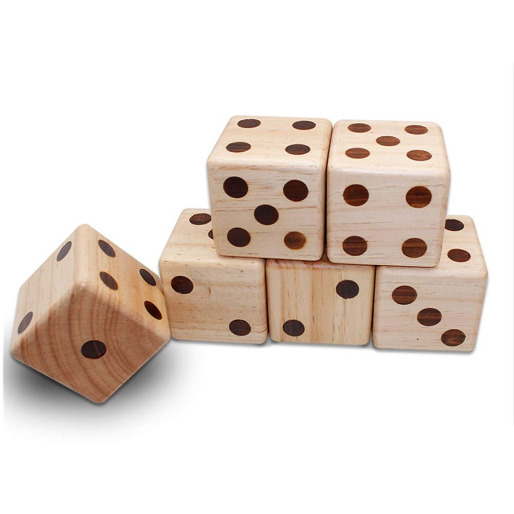 Giant Wooden Dice for Outdoor Kids Lawn Game