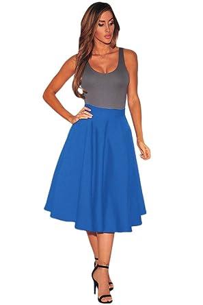 zarima - Falda - Sin tirantes - Básico - para mujer azul 36 ...