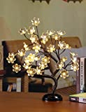 Lightshare 16Inch 36LED Big Blossom Flower Bonsai Light,Clear Flower,Warm White Light, Battery Powered and Plug-in Adapter (not included), Décor for Home/Festival/Party/Christmas/NightLight