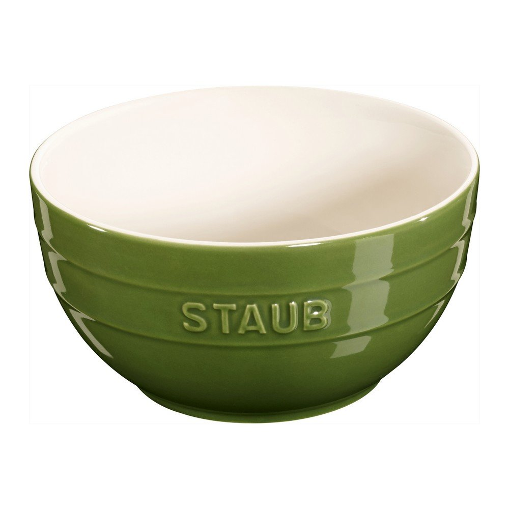 """Staub Ceramic 6.5"""" Large Bowl - 1.3-qt (Basil)"""