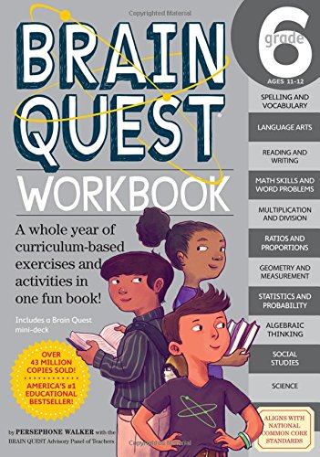 Brain Quest Workbook: Grade 6 (Brain Quest Workbooks)