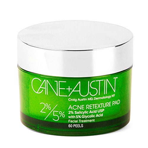 CANE + AUSTIN Acne Retexture Pad, Salicylic and Glycolic Acids Austin Powers Cane