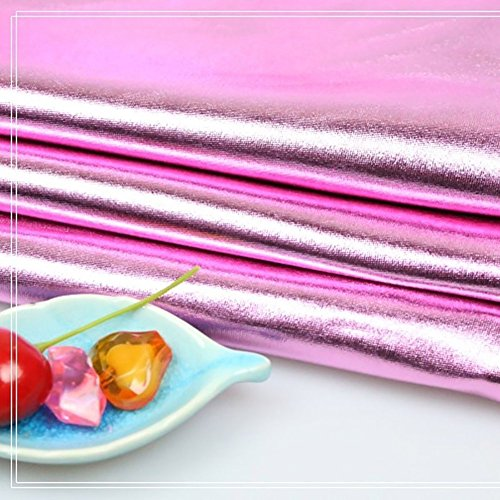 (Shanghaipop Stretchy Spandex Fabric Metallic Shiny Fabric for Costume Dress Crafts by Meter)
