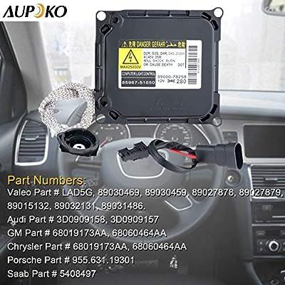 Aupoko KDLT003, DDLT003 85967-52020 Xenon HID Ballast Headlight with Igniter and Harness Control Unit Module for 85967-51050, 85967-53040, 85967-24010, Fit for Lexus, Toyota Prius Avalon Solara Venza: Automotive