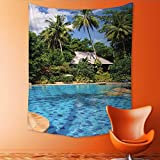 Auraisehome Vertical Version Tapestry Swimming Pool in spa Resort Throw, Bed, Tapestry, or Yoga Blanket 60W x 80L INCH