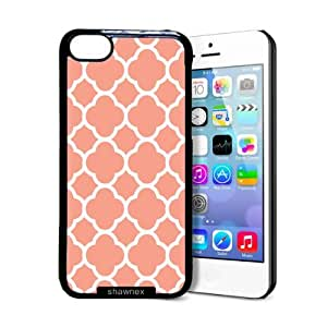 Shawnex Quartefoil Coral iPhone 5C Case - Thin Shell Plastic Protective Case iPhone 5C Case