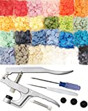 KAMsnaps® Starter Kit: 250 Lead-Tested KAM Snaps and Snap Press Pliers for Plastic Snaps No-Sew Buttons Fastener Setter Hand Tool for Cloth Diapers Bibs Clothing