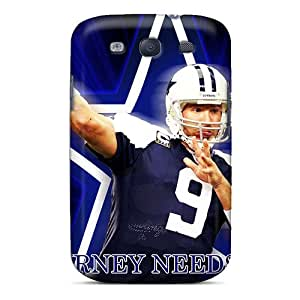 MansourMurray Samsung Galaxy S3 Shockproof Cell-phone Hard Cover Custom Realistic Dallas Cowboys Series [TWm19285iPtg]