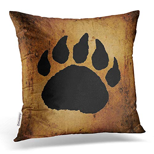 - Accrocn Throw Pillow Covers Vintage Lovely Black Bear Paw Print Pillow Decorative Cushion Decorative Pillowcases Polyester 18 x 18 Inch Square Pillowcase Hidden Zipper