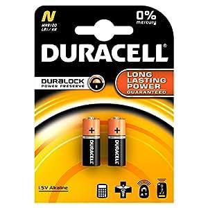 """Duracell Alkali Lady """"N"""" - Pilas LR1, 4001, 4901, MX9100, 910A, 2 unidades"""