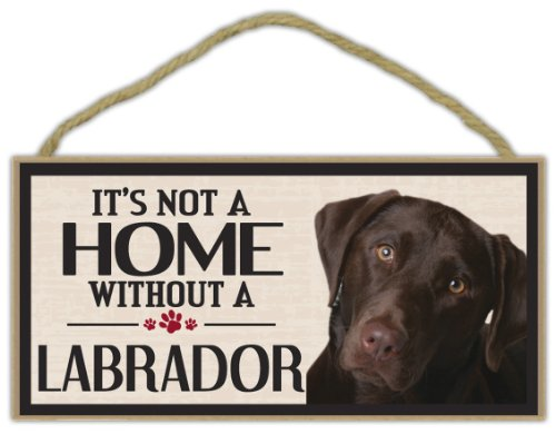 Wood Sign: It's Not A Home Without A LABRADOR (RETRIEVER, for sale  Delivered anywhere in USA