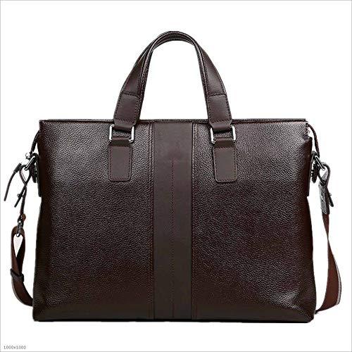 本革 ビジネスバッグ ブリーフケース メンズブリーフケースレザービジネスバッグファーストレイヤレザーバッグラップトップバッグビジネスカジュアルに適した (Color : Brown) B07RTSQSML Brown