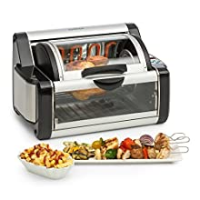 KLARSTEIN Rotisserie 2G • Multi-Use •250-450° • Rotating Oven • Chicken, Kebob, Vegetables • Stainless Steel • 1200W • Black