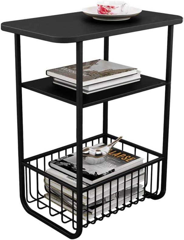 Verlaagde Prijs Multifunctionele Opslag Moderne Salontafel Woonkamer Display Stand Eenvoudig Nachtkastje Zwarte 50X30X61CM 4.11 (Color : Gold) Black FoWgrKe