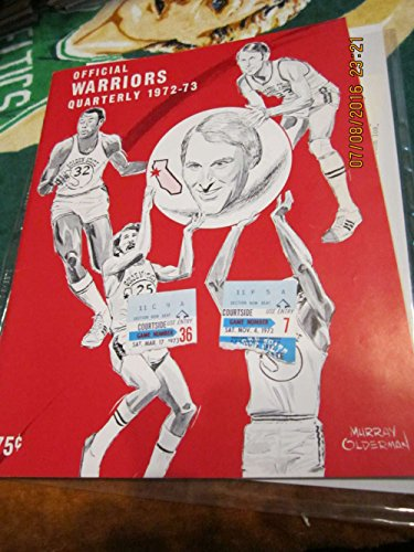 (1972 Warriors vs Knicks Basketball Program amp; 2 tickets)