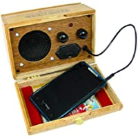 Wooden Cigar Box Smart Phone Amp/Speaker - Nice Loud Sound from a 9-Volt Battery!