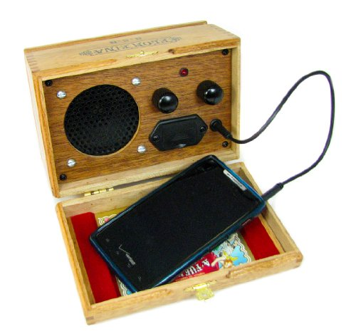 Wooden Cigar Box Smart Phone Amp/Speaker - Nice Loud Sound from a 9-Volt Battery! by C. B. Gitty