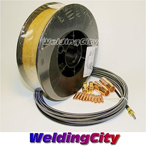 "UPC 799491550629, WeldingCity MIG Wire 11#-030"" & Nozzle-Contact Tip-Adapter-Liner for Miller Millermatic M-10/M-15 MK32"