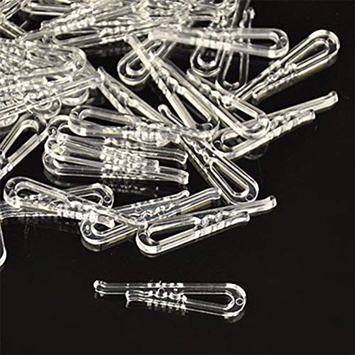 PH PandaHall About 2000 Pieces Clear Plastic Alligator Clips Shirts Folding Ties Socks Pants Hold Garments
