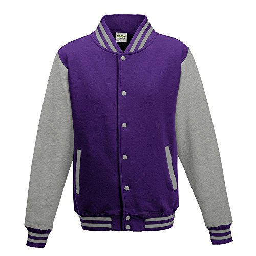 Heather mao cuello Manga Purple para Larga Grey Hoods Opaco Morado hombre Just Chaqueta TgPqwApf