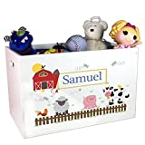 Personalized Jungle Animal Toy Box